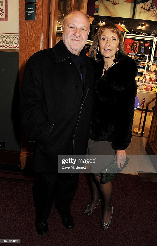 <a gi-track='captionPersonalityLinkClicked' href=/galleries/search?phrase=Harvey+Goldsmith&family=editorial&specificpeople=214667 ng-click='$event.stopPropagation()'>Harvey Goldsmith</a> (L) and Diana Goldsmith arrive at the opening night of Cirque Du Soleil's Kooza at Royal Albert Hall on January 8, 2013 in London, England.
