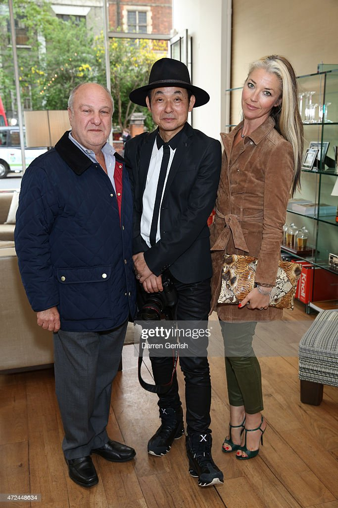 <a gi-track='captionPersonalityLinkClicked' href=/galleries/search?phrase=Harvey+Goldsmith&family=editorial&specificpeople=214667 ng-click='$event.stopPropagation()'>Harvey Goldsmith</a> and Hiro and Tamara Beckwith attends a private view at Gotham Interior Design on May 7, 2015 in London, England.