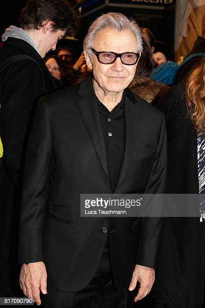 Harvey Keite arrives for Duncan Macmillan's new play 'People Places Things' at The National Theatre on March 23 2016 in London England