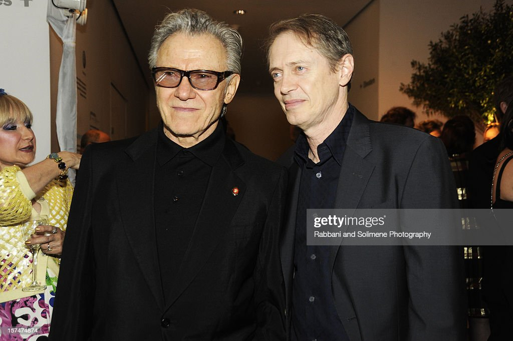 <a gi-track='captionPersonalityLinkClicked' href=/galleries/search?phrase=Harvey+Keitel&family=editorial&specificpeople=213151 ng-click='$event.stopPropagation()'>Harvey Keitel</a> and <a gi-track='captionPersonalityLinkClicked' href=/galleries/search?phrase=Steve+Buscemi&family=editorial&specificpeople=207107 ng-click='$event.stopPropagation()'>Steve Buscemi</a> attends The Museum of Modern Art 5th annual Film Benefit honoring Quentin Tarantino at MOMA on December 3, 2012 in New York City.