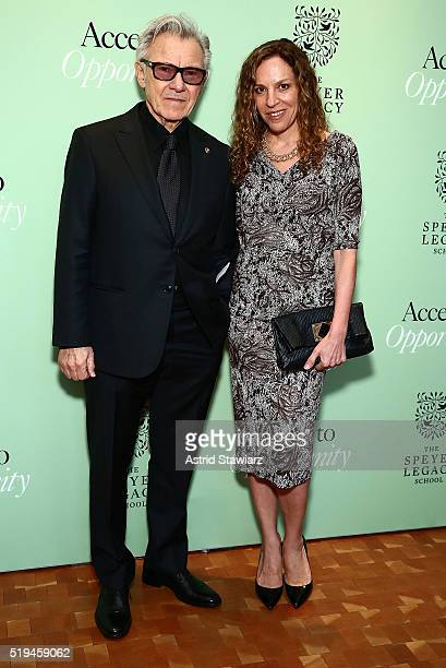 Harvey Keitel and wife Daphna Kastner attend 2nd Annual Speyer Legacy School Access To Opportunity Initiative Benefit at Carnegie Hall on April 6...