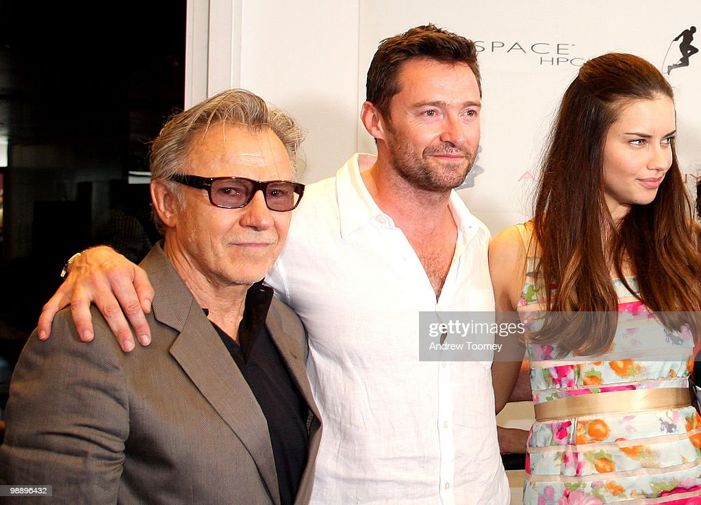 Harvey Keitel, Hugh Jackman and Adriana Lima attend the 3rd Annual Aerospace Fight for Fitness Competition at the Aerospace High Performance Center on May 6, 2010 in New York City.