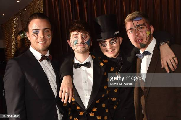 Harvey Lewis Fin Munro Rafferty Law and Kit Lewis attend Dali's Dream Halloween party hosted by Velocity Black and The Mandrake Hotel on October 27...