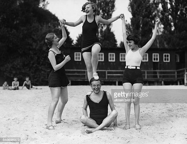 Harvey Lilian Actress Singer Germany / Great Britain * Scene from the movie ''' Camilla Horn Harvey Jenny Jugo Willi Fritsch at the lido in Bad...