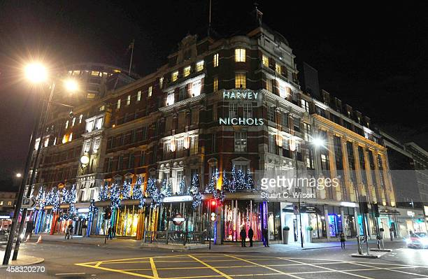 Harvey Nichols unveils their Christmas windows 'The Enchanted Woodland' at Harvey Nichols on November 2 2014 in London England