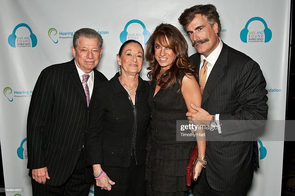 Harvey Orlin, Roslyn Orlin, Caryn Kraff, and Lowell Kraff attend the Hearing Health Foundation's An Intimate Evening with Cyndi Lauper at B.B. King Blues Club & Grill on February 6, 2013 in New York City.
