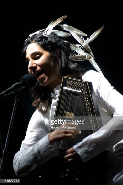 PJ Harvey performs on stage at the Primavera Sound Music Festival on May 28 2011 in Barcelona Spain