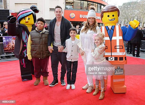 Harvey Price Kieran Hayler Junior Andre Katie Price and Princess Andre attend a VIP screening of 'The Lego Movie' at the Vue West End on February 9...