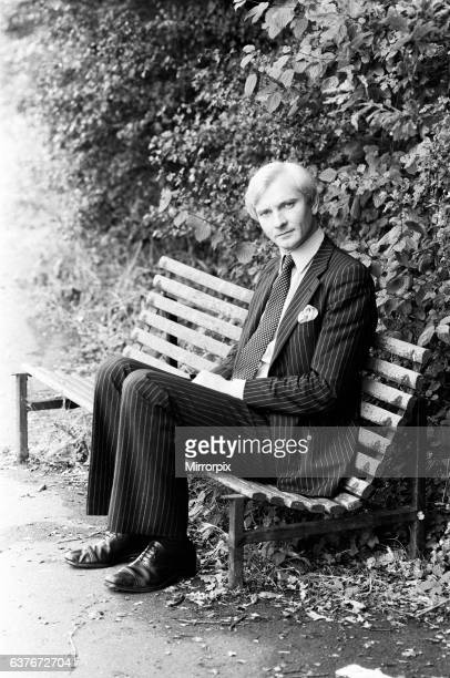 Harvey Proctor 34 year old MP for Basildon Essex talking to reporters outside his home at Billericay Essex It is alleged that a Mr John Woods broke...