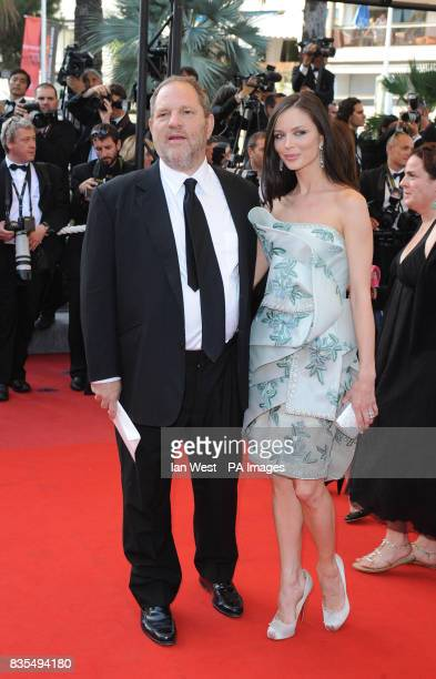 Harvey Weinstein and and Georgina Chapman arrive for the premiere of new film Coco Chanel and Igor Stravinsky during the Cannes Film Festival at the...