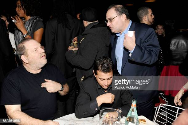 Harvey Weinstein and Bob Weinstein attend The Weinstein Company The Hollywood Reporter SamsungGalaxy The Cinema Society host the afterparty for...