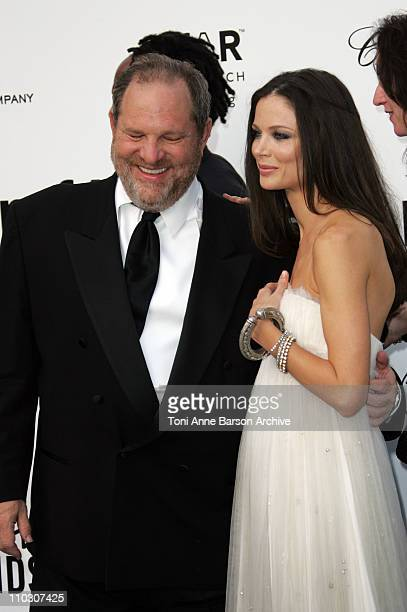 Harvey Weinstein and Georgina Chapman at amfAR's Cinema Against AIDS event presented by Bold Films the M*A*C AIDS Fund and The Weinstein Company to...