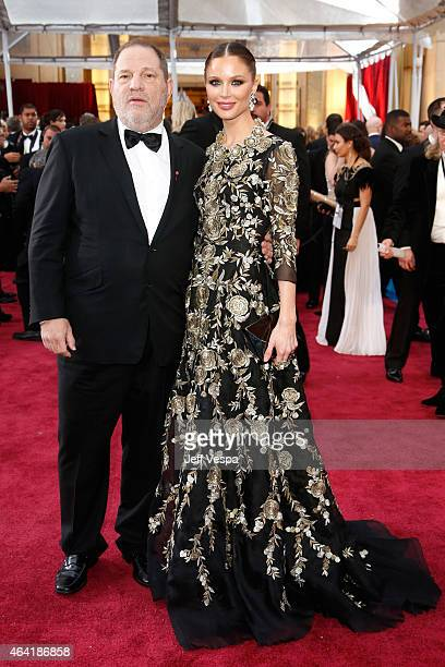 Harvey Weinstein and Georgina Chapman attend the 87th Annual Academy Awards at Hollywood Highland Center on February 22 2015 in Hollywood California