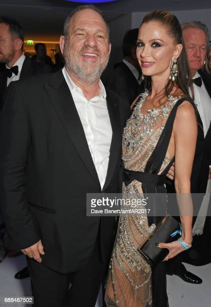 Harvey Weinstein and Georgina Chapman attend the amfAR Gala Cannes 2017 at Hotel du CapEdenRoc on May 25 2017 in Cap d'Antibes France