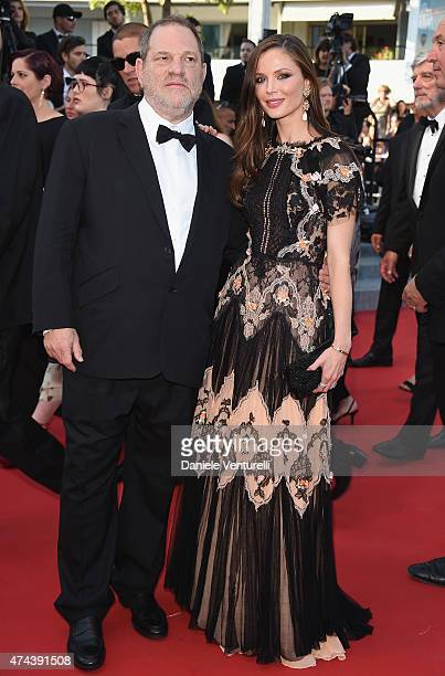 Harvey Weinstein and Georgina Chapman attend the 'Little Prince' Premiere during the 68th annual Cannes Film Festival on May 22 2015 in Cannes France