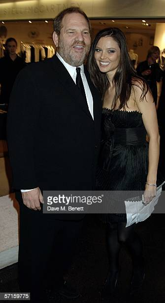 Harvey Weinstein and Georgina Chapman attend the VIP launch party for British couture label Marchesa's Spring/Summer 2006 collection founded by...