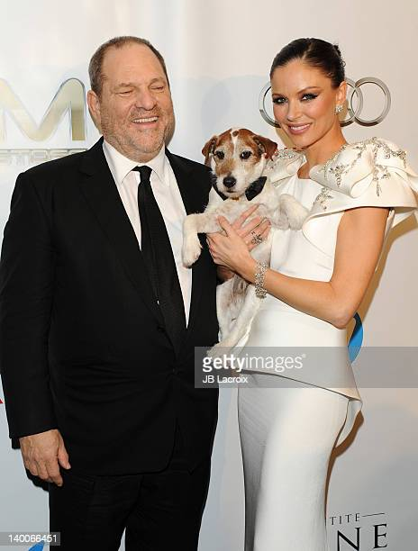 Harvey Weinstein and Georgina Chapman attend The Weinstein Company Post Oscar Party held at Mondrian Los Angeles on February 26 2012 in West...