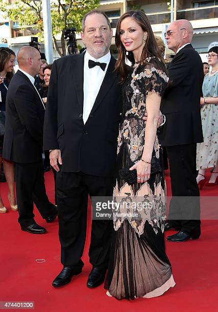 Harvey Weinstein and Georgina Chapman attends the 'Little Prince' Premiere during the 68th annual Cannes Film Festival on May 22 2015 in Cannes France