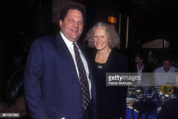 Harvey Weinstein and Glenn Close on June 26 1995 in New York City