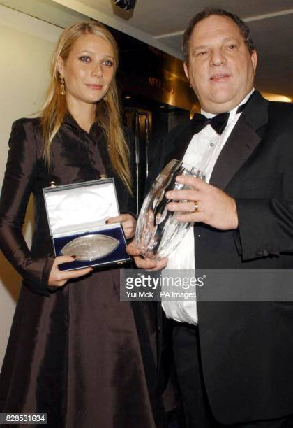 Harvey Weinstein and Gwyneth Paltrow during the 50th anniversary gala of the NFT at the National Film Theatre on the South Bank in London