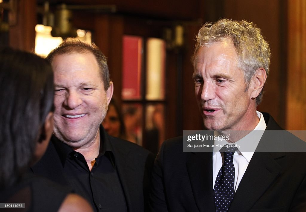 <a gi-track='captionPersonalityLinkClicked' href=/galleries/search?phrase=Harvey+Weinstein&family=editorial&specificpeople=201749 ng-click='$event.stopPropagation()'>Harvey Weinstein</a> and <a gi-track='captionPersonalityLinkClicked' href=/galleries/search?phrase=John+Sykes+-+Uomo+d%27affari+americano&family=editorial&specificpeople=211436 ng-click='$event.stopPropagation()'>John Sykes</a> attend the '12.12.12.' premiere during the 2013 Toronto International Film Festival at Winter Garden Theatre on September 8, 2013 in Toronto, Canada.