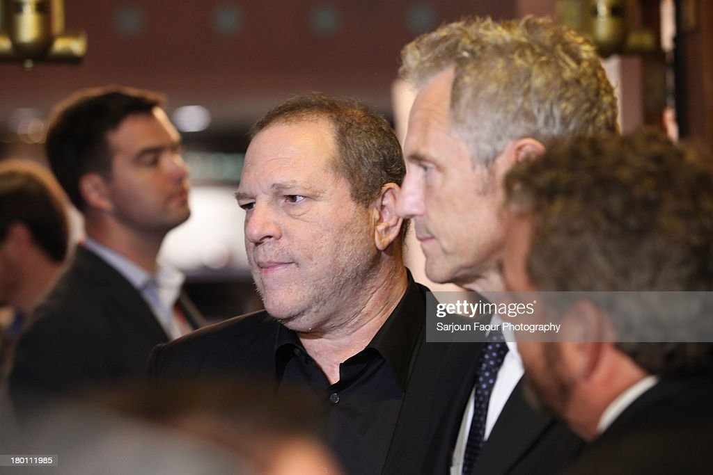 Harvey Weinstein and John Sykes attend the '12.12.12.' premiere during the 2013 Toronto International Film Festival at Winter Garden Theatre on September 8, 2013 in Toronto, Canada.
