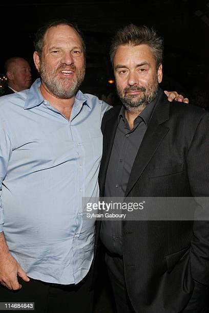 Harvey Weinstein and Luc Besson during The Weinstein Companys' 'Arthur and the Invisibles' New York Premiere After Party at Providence at 311 West...