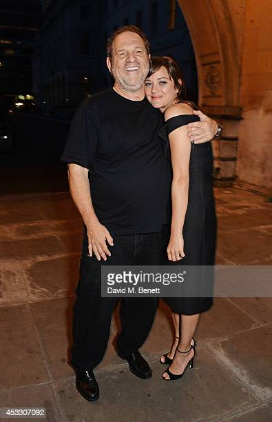Harvey Weinstein and Marion Cotillard attends the Opening Night of the Film4 Summer Screen at Somerset House featuring the UK Premiere of 'Two Days...