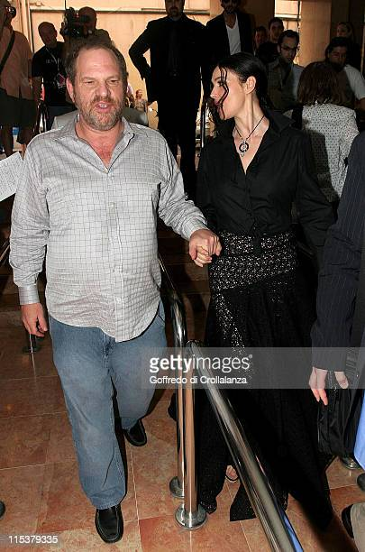 Harvey Weinstein and Monica Bellucci during 2005 Cannes Film Festival Monica Belluci and Terry Gilliam Sightings Day 3 at Olympia Cinema in Cannes...