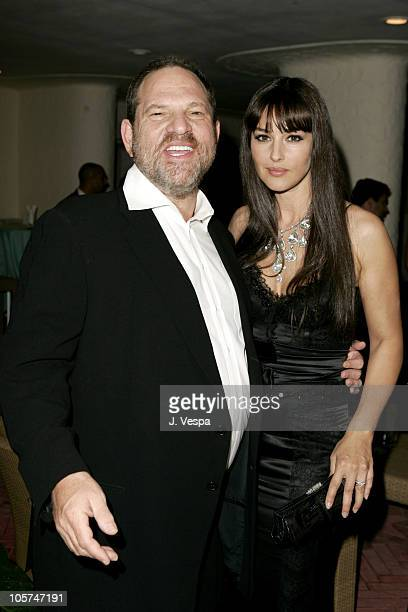 Harvey Weinstein and Monica Bellucci during 2005 Venice Film Festival 'The Brothers Grimm' Party at Excelsior Hotel in Venice Lido Italy