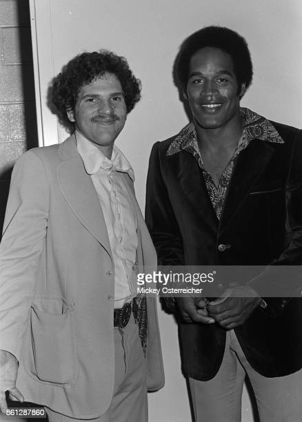 Harvey Weinstein and O.J Simpson back stage at a Bob Hope performance at the Buffalo AUD September 12, 1973 in Buffalo, New York.