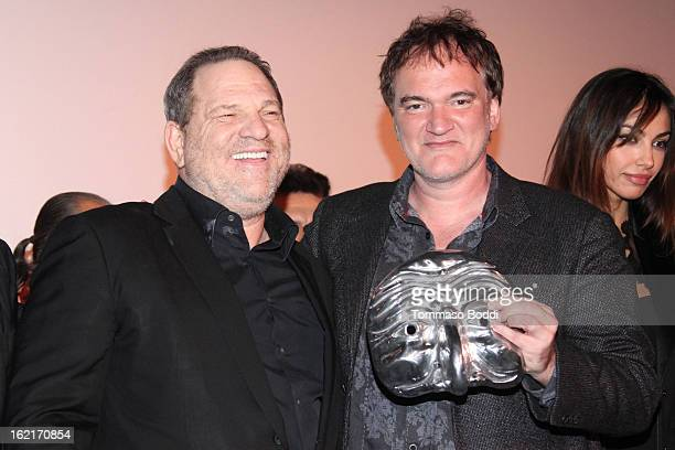 Harvey Weinstein and Quentin Tarantino attend the 8th annual Los Angeles ItaliaFilm Fashion And Art Fest held at the Mann Chinese 6 on February 19...