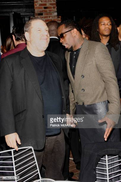 Harvey Weinstein and Sean 'Diddy' Combs attend The Weinstein Company The Hollywood Reporter SamsungGalaxy The Cinema Society host the afterparty for...