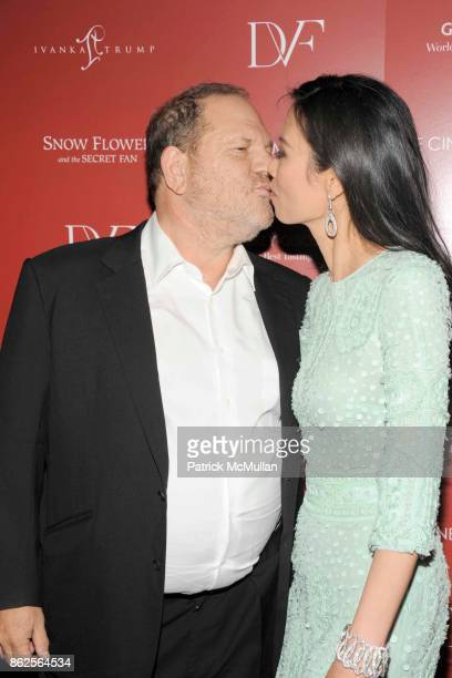Harvey Weinstein and Wendi Murdoch attend THE CINEMA SOCIETY with IVANKA TRUMP JEWELRY DIANE VON FURSTENBERG host a screening of 'SNOW FLOWER AND THE...