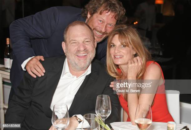 Harvey Weinstein Arpad Busson and Jemima Khan attend The 9th Annual Filmmakers Dinner hosted by Charles Finch and JaegerLeCoultre at Hotel du...