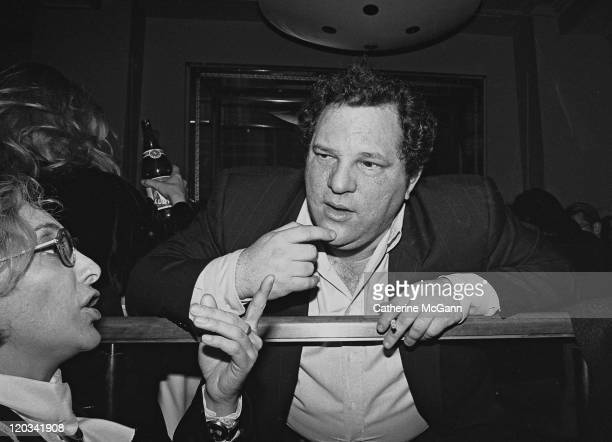Harvey Weinstein at party for the film 'Sirens' in 1994 in New York City New York
