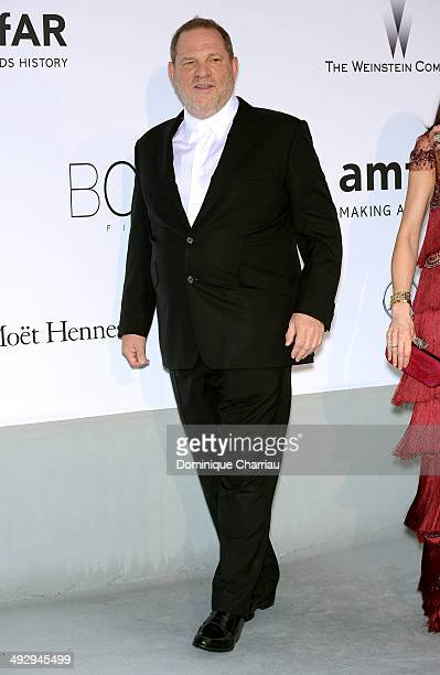 Harvey Weinstein attends amfAR's 21st Cinema Against AIDS Gala Presented By WORLDVIEW BOLD FILMS And BVLGARI at Hotel du CapEdenRoc on May 22 2014 in...