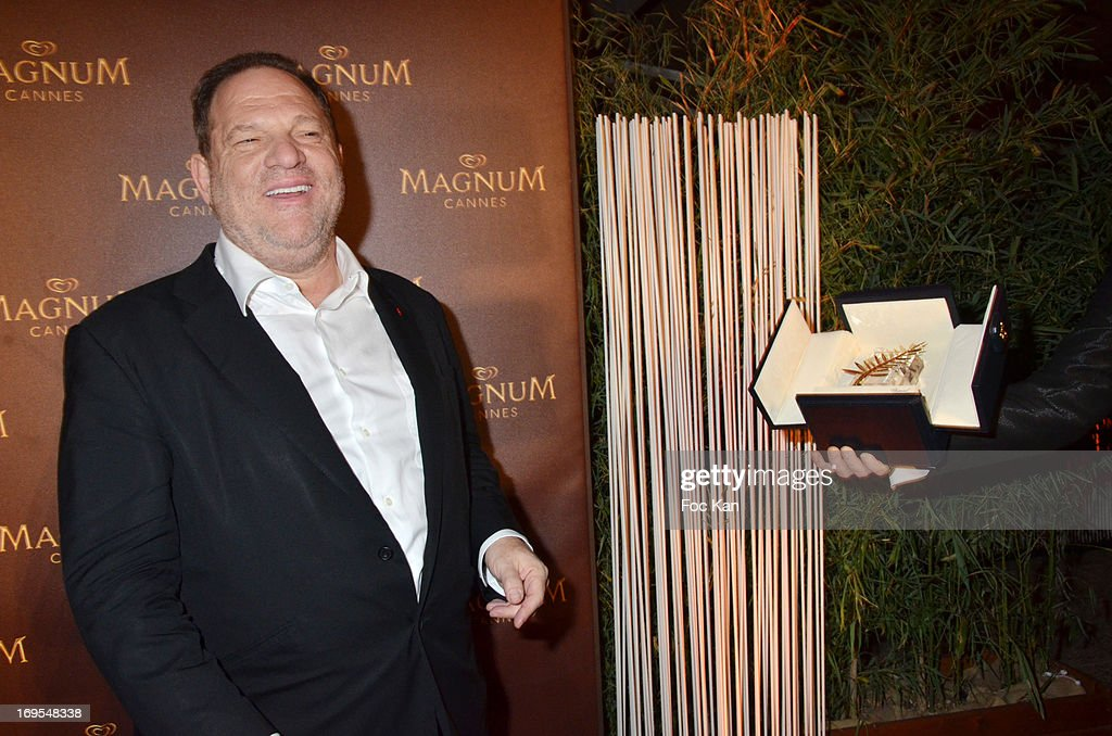 Harvey Weinstein attends La Vie D'Adele Palme d'Or Party At The Magnum Cannes Plage - The 66th Annual Cannes Film Festival on May 26, 2013 in Cannes, France.