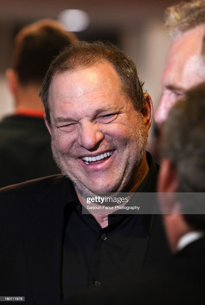 <a gi-track='captionPersonalityLinkClicked' href=/galleries/search?phrase=Harvey+Weinstein&family=editorial&specificpeople=201749 ng-click='$event.stopPropagation()'>Harvey Weinstein</a>, attends the '12.12.12.' premiere during the 2013 Toronto International Film Festival at Winter Garden Theatre on September 8, 2013 in Toronto, Canada.