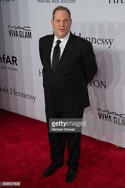 Harvey Weinstein attends the 2016 amfAR New York Gala at Cipriani Wall Street on February 10 2016 in New York City