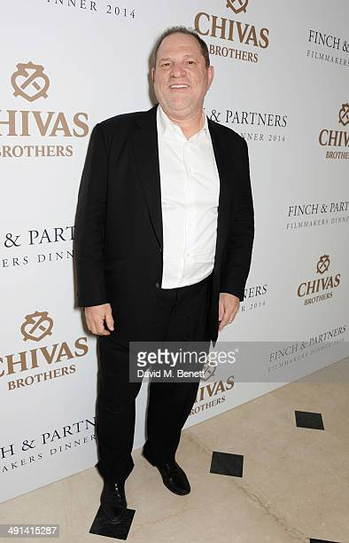 Harvey Weinstein attends the annual Charles Finch Filmmakers Dinner during the 67th Cannes Film Festival at Hotel du CapEdenRoc on May 16 2014 in Cap...