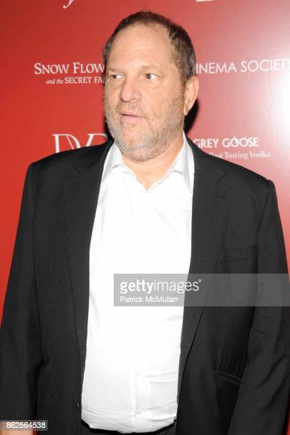 Harvey Weinstein attends THE CINEMA SOCIETY with IVANKA TRUMP JEWELRY DIANE VON FURSTENBERG host a screening of 'SNOW FLOWER AND THE SECRET FAN' at...