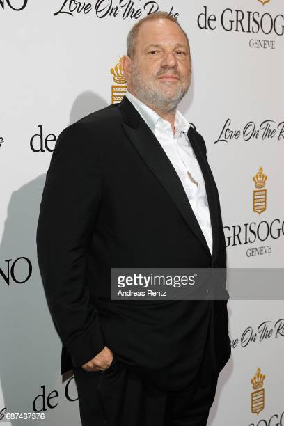 Harvey Weinstein attends the DeGrisogono 'Love On The Rocks' during the 70th annual Cannes Film Festival at Hotel du CapEdenRoc on May 23 2017 in Cap...