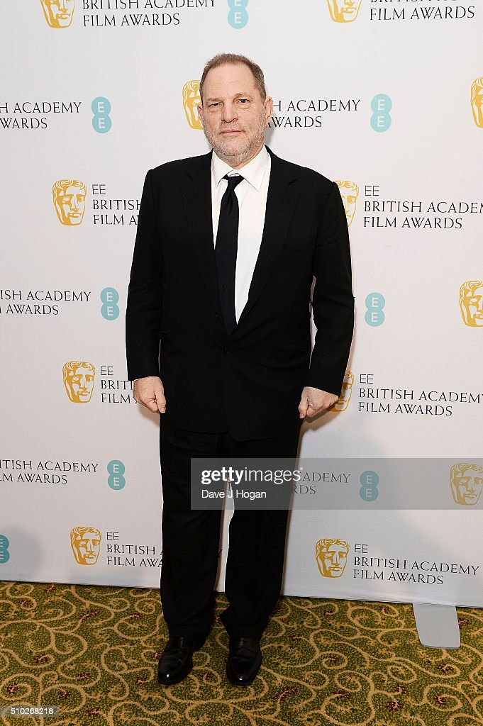 <a gi-track='captionPersonalityLinkClicked' href=/galleries/search?phrase=Harvey+Weinstein&family=editorial&specificpeople=201749 ng-click='$event.stopPropagation()'>Harvey Weinstein</a> attends the official After Party Dinner for the EE British Academy Film Awards at The Grosvenor House Hotel on February 14, 2016 in London, England.