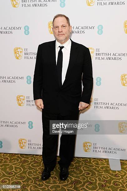 Harvey Weinstein attends the official After Party Dinner for the EE British Academy Film Awards at The Grosvenor House Hotel on February 14 2016 in...