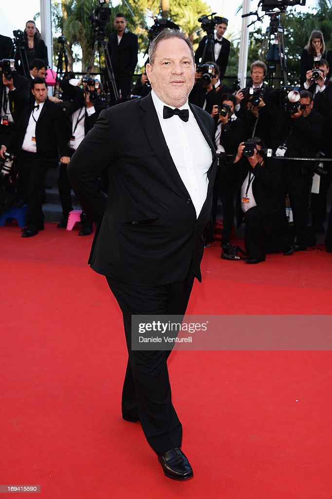 Harvey Weinstein attends the Premiere of 'The Immigrant' at The 66th Annual Cannes Film Festival at Palais des Festivals on May 24, 2013 in Cannes, France.
