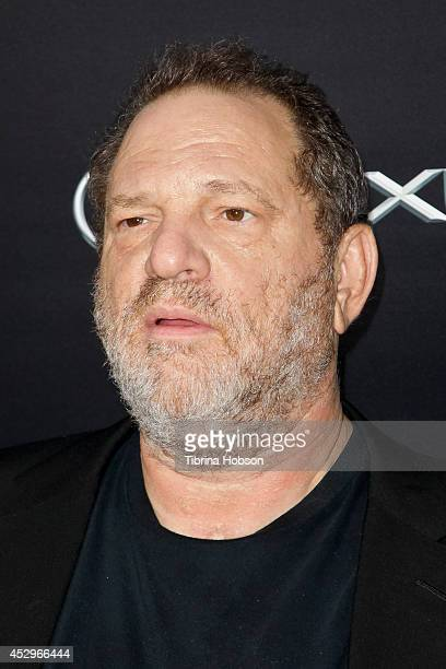 Harvey Weinstein attends the Weinstein Company short films presented by Lexus at Regal Cinemas LA Live on July 30 2014 in Los Angeles California