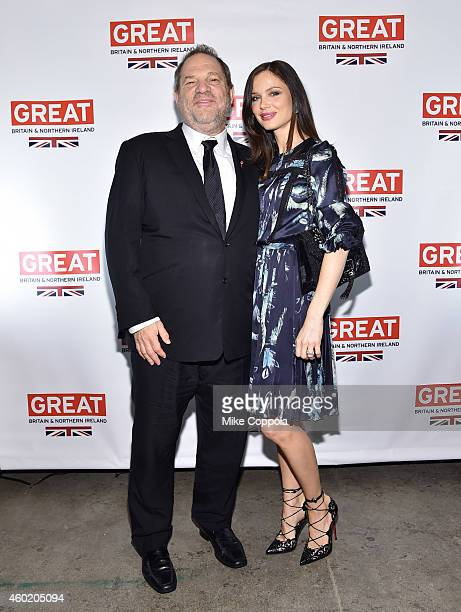 Harvey Weinstein CBE and designer Georgina Chapman attend the Creativity is GREAT BritainÕs event in honour of the Duke and Duchess of Cambridge at...