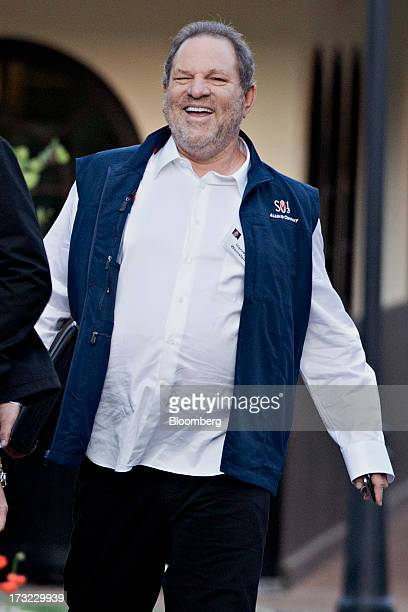 Harvey Weinstein cochairman and founder of Weinstein Co arrives for a morning session during the Allen Co Media and Technology Conference in Sun...