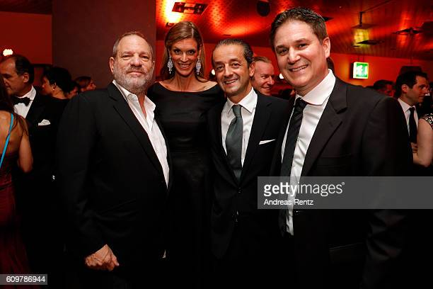 Harvey Weinstein Festival director Nadja Schildknecht guest and Peter Baumgartner attend the opening party during the 12th Zurich Film Festival on...